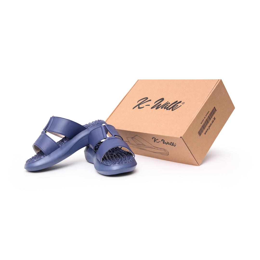 Sandal Terapi Kesehatan - K-Walk Plus Navy With Box